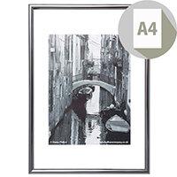 Photo Album Company Certificate Frame A4 Silver/Black Pinstripe PACFA4B-SIL