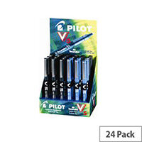Pilot Assorted V5 Hi-Tec Rollerball Pens Display Pack of 24 100502400