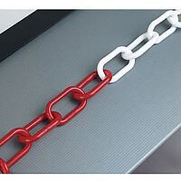 Plastic Chain 8mm Red/White 360078