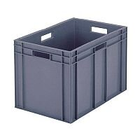 Plastic Stacking Container Grey 307495