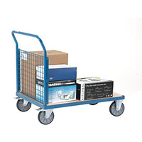 VFM Blue Premier Platform Truck Single Mesh 1200 x 800mm 315624 500kg