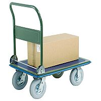 VFM 300kg Capacity Pressed Steel Platform Truck Puncture Proof Wheels 383495