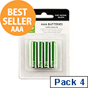 Q-Connect AAA Alkaline Batteries Pack 4