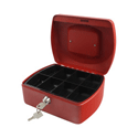 Q-Connect 8 Inch Cash Box Red