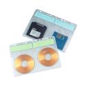 Q-Connect CD Binder Multi-Punched Pocket 4 per Sheet Pack of 10 KF02203