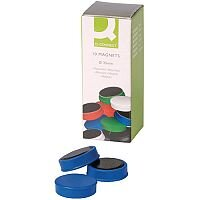 Whiteboard Magnets 25mm Blue Pack of 10 Q-Connect KF02640