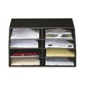 Q-Connect Black 8 Shelf Mailroom Sorter