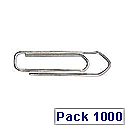 Q-Connect Paperclip 26mm No Tear Pack of 100 x 10 KF01307Q