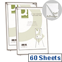 Q-Connect A1 Self-Adhesive Flipchart Pad 30 Sheets Pack of 2