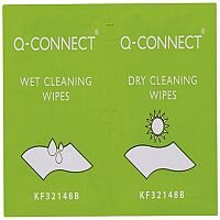 Q-Connect Wet and Dry Wipes Pack of 20 KF32148