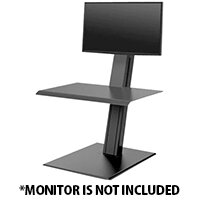 Humanscale QuickStand ECO Height-Adjustable Sitting/Standing Single Monitor Workstation Black QSEBS