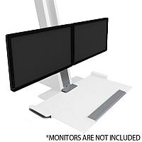 Humanscale QuickStand Height-Adjustable Dual Monitor Sit/Stand Workstation White QSWC30
