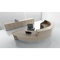 Valde Circular  Reception Unit Canadian Oak  Finish RD37