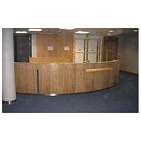Circular Front Wooden Reception Unit RD61
