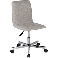 Riff Medium Back Operators Chair Fabric Seat Chrome Base Grey