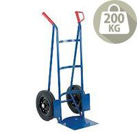 Rough Terrain Hand Truck Blue/Orange With Rubber Wheels 200kg Capacity 383373