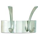 Safco Curve 2-Hook Coat Rack Silver 4203SL