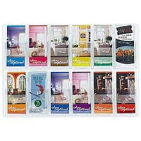 Safco Reveal 12 Pocket 1/3xA4/DL Clear Display 5604CL