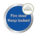 Safety Sign Fire Door Keep Locked 76mm