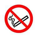 Safety Sign No Smoking Symbol 50x50mm Self-Adhesive Pack of 1 PH04739S