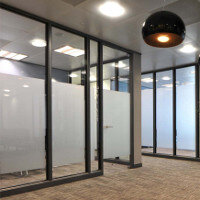 SAS SYSTEM 4000 Single Glazed Glass Office Partitioning System
