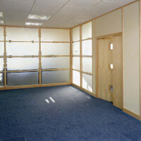 SAS SYSTEM 5000 Double Glazed Hardwood Office Partitioning System