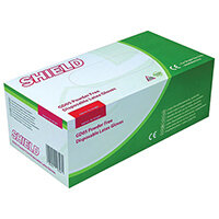 Disposable Powder Free Latex Gloves Clear XS Pk10x100 Shield GD05