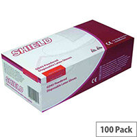 Disposable Powdered Latex Gloves Natural Medium Box of 100 Shield GD45