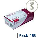 Disposable Powdered Latex Gloves Natural Small Box of 100 Shield GD45