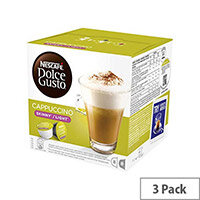 Nescafe Dolce Gusto Skinny, Light Cappuccino Capsules - Makes 24 Drinks Fat Free, No Added Sugar. Full Bodied Espresso Intense with Rich Velvety Crema. Only 50 Calories a Cup