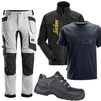 Snickers Bundle Offer - 2887 Full Zip Jacket - 6241 Trousers - 2580 T-shirt - STORM shoes