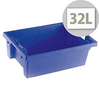 Solid Slide Stack/Nesting Container 600x400x200mm Blue 382960