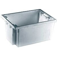 Solid Slide Stack/Nesting Container 600x400x300mm Grey 382968