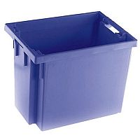 Solid Slide Stack/Nesting Container 600x400x400mm Blue 382975