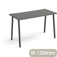 Sparta Rectangular Home Office Desk with Charcoal A Frame Legs & Onyx Grey Desktop W1200xD600xH730mm