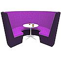 Modular Meeting Pod STELLA 3 Sections Purple