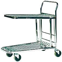 VFM Metallic Grey Stock Platform Trolley 300kg Capacity 373227