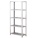 Storage Solutions Light Duty Bolted 5-Shelf Unit Galvanised ZZBS5GV150C07030