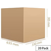 Single Wall Carton 635x305x330mm Pack of 20