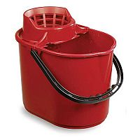 Economy Colour Coded Plastic Mop Bucket Red Capacity 12L
