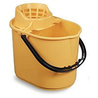 Economy Colour Coded Plastic Mop Bucket Yellow Capacity 12L