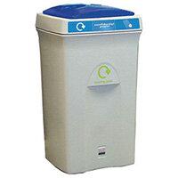 Recycling Bin Plastic Bottles 100 Litre Grey/Blue