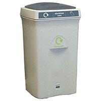 Recycling Bin Plastic Bottles 100 Litre Grey/Grey