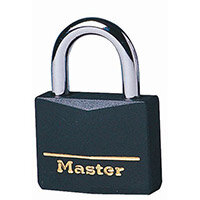 Coloured Lockout Padlock Black Pack of 6