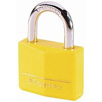 Coloured Lockout Padlock Yellow Pack of 6