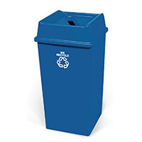 Paper Waste Bin Base Container Only Without Lid 132.5L Blue