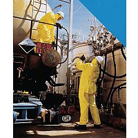 One-Piece Overall Chemical Handling Coverall Size L Yellow