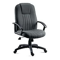 City Fabric Upholstered Executive Office Armchair Charcoal