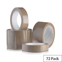 Vinyl Tape Bulk Pack 24mm Brown Pack of 72