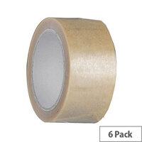 Vinyl Tape Regular Pack 72mm Clear Pack of 6